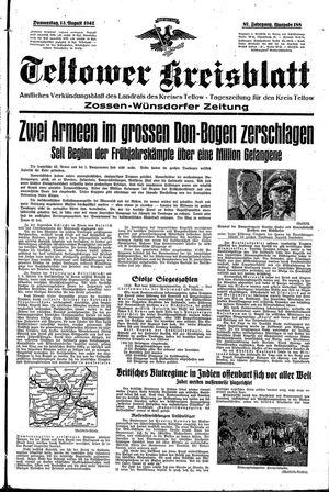 Teltower Kreisblatt vom 13.08.1942