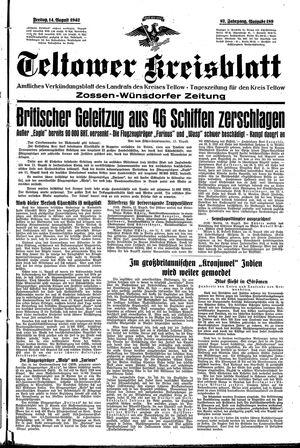Teltower Kreisblatt vom 14.08.1942