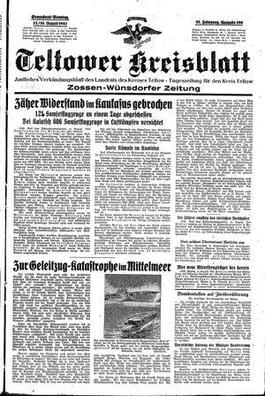 Teltower Kreisblatt vom 15.08.1942