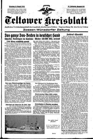 Teltower Kreisblatt vom 18.08.1942