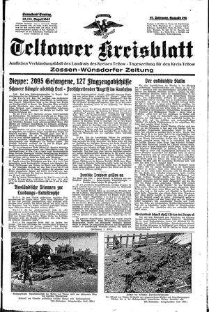 Teltower Kreisblatt vom 22.08.1942