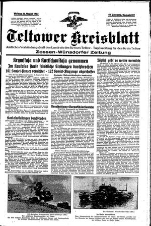 Teltower Kreisblatt on Aug 24, 1942