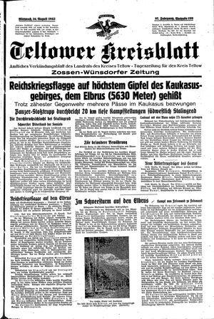 Teltower Kreisblatt vom 26.08.1942