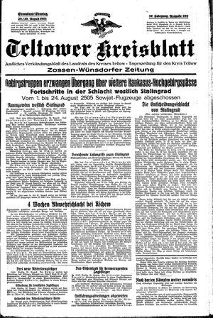 Teltower Kreisblatt vom 29.08.1942