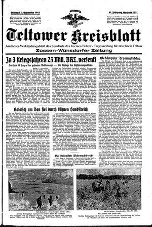 Teltower Kreisblatt vom 02.09.1942