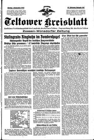 Teltower Kreisblatt vom 04.09.1942
