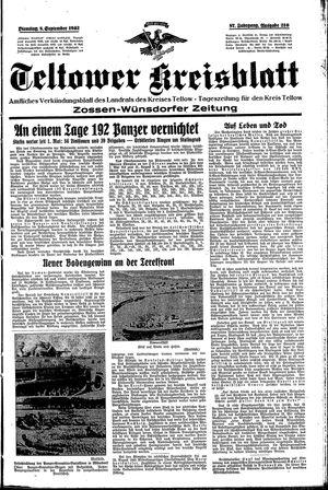 Teltower Kreisblatt vom 08.09.1942