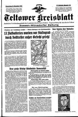 Teltower Kreisblatt vom 10.09.1942