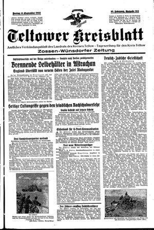 Teltower Kreisblatt vom 11.09.1942