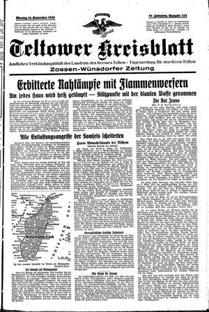 Teltower Kreisblatt vom 13.09.1942
