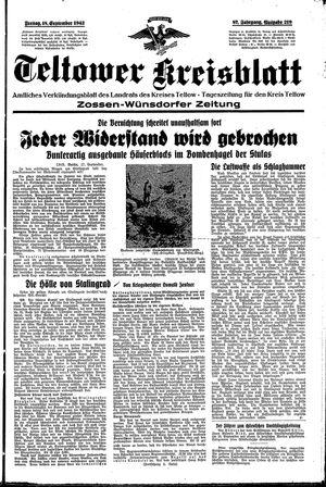 Teltower Kreisblatt vom 18.09.1942