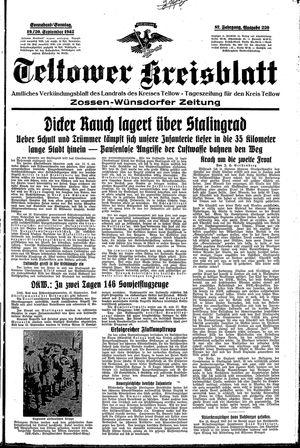 Teltower Kreisblatt vom 19.09.1942