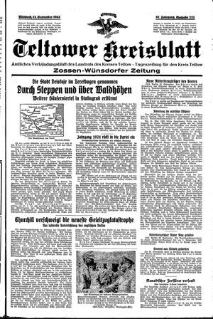 Teltower Kreisblatt vom 23.09.1942