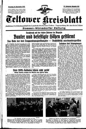 Teltower Kreisblatt vom 29.09.1942