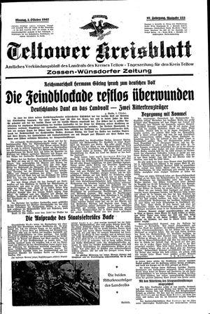 Teltower Kreisblatt vom 05.10.1942