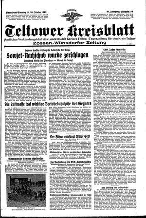 Teltower Kreisblatt vom 10.10.1942