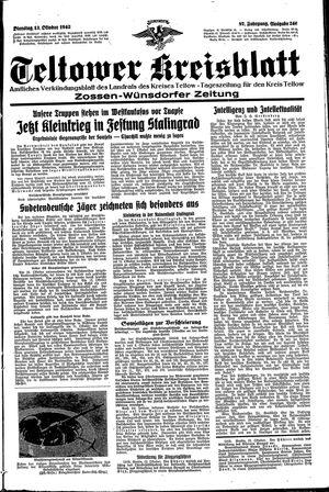 Teltower Kreisblatt vom 13.10.1942