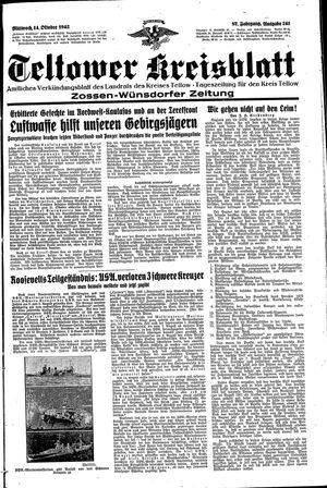 Teltower Kreisblatt vom 14.10.1942