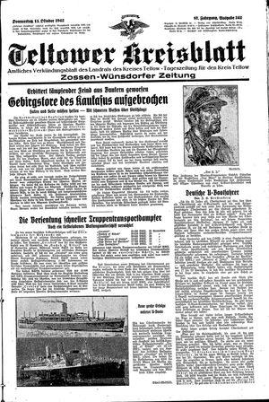 Teltower Kreisblatt vom 15.10.1942