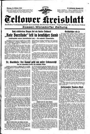 Teltower Kreisblatt vom 19.10.1942