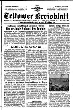 Teltower Kreisblatt vom 20.10.1942