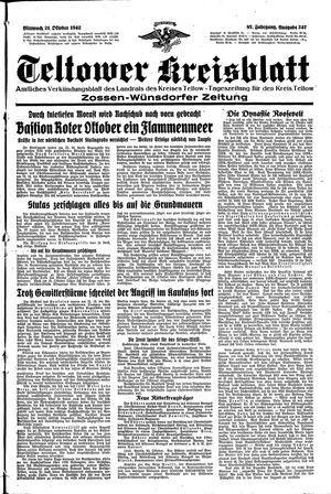 Teltower Kreisblatt on Oct 21, 1942