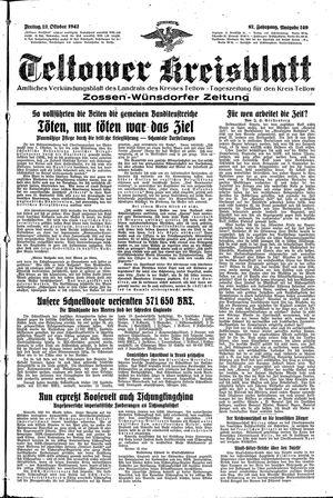Teltower Kreisblatt vom 23.10.1942