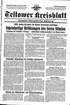 Teltower Kreisblatt vom 24.10.1942