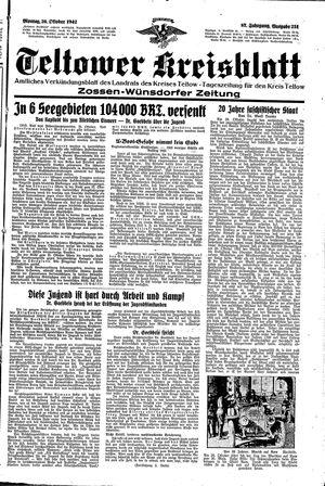 Teltower Kreisblatt vom 26.10.1942