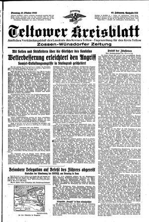Teltower Kreisblatt vom 27.10.1942
