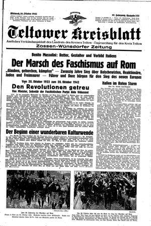Teltower Kreisblatt vom 28.10.1942