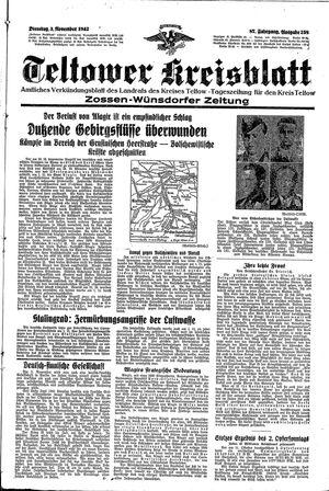 Teltower Kreisblatt vom 03.11.1942