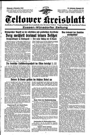 Teltower Kreisblatt vom 04.11.1942