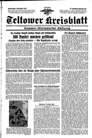 Teltower Kreisblatt on Nov 5, 1942