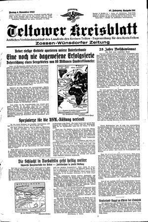 Teltower Kreisblatt vom 06.11.1942