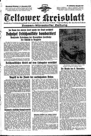 Teltower Kreisblatt vom 07.11.1942