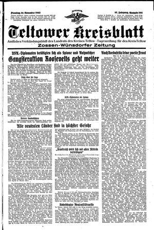 Teltower Kreisblatt vom 10.11.1942