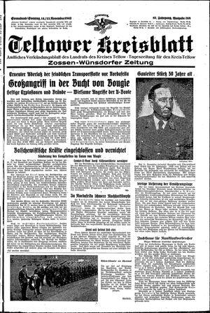 Teltower Kreisblatt vom 14.11.1942