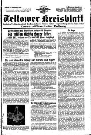 Teltower Kreisblatt vom 16.11.1942