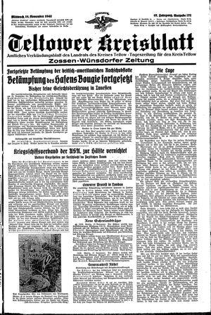 Teltower Kreisblatt vom 18.11.1942