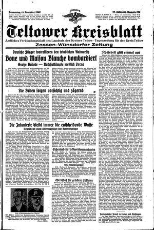 Teltower Kreisblatt vom 19.11.1942