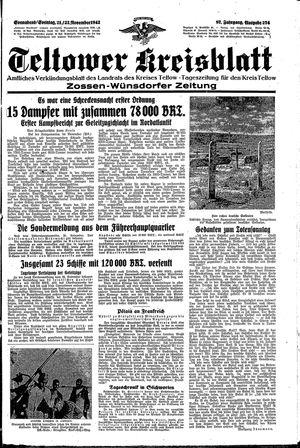 Teltower Kreisblatt vom 21.11.1942