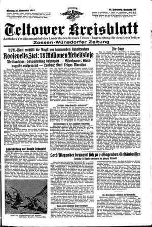 Teltower Kreisblatt vom 23.11.1942