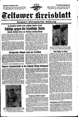 Teltower Kreisblatt vom 24.11.1942