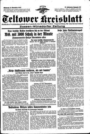 Teltower Kreisblatt vom 25.11.1942