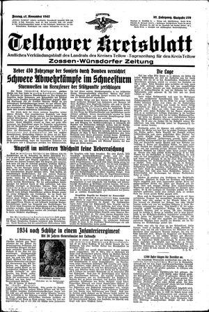 Teltower Kreisblatt vom 27.11.1942