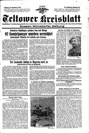 Teltower Kreisblatt vom 30.11.1942