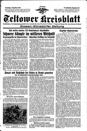 Teltower Kreisblatt vom 01.12.1942