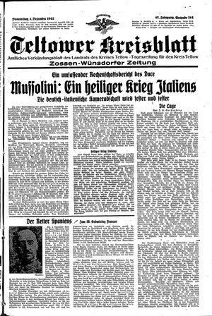 Teltower Kreisblatt vom 03.12.1942