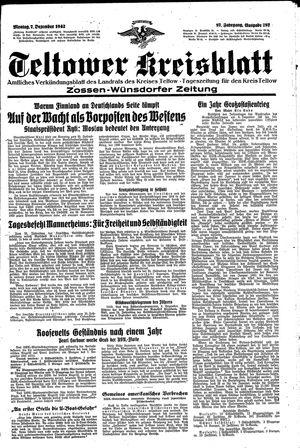 Teltower Kreisblatt vom 07.12.1942